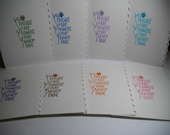 Friendship (hand-stamped) 8-Card Box
