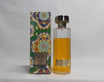 Moon Drops by Revlon 8 oz 3/4 Full Bottle Cologne in Original Green Paisley Box Vintage Original Perfume Fragrance