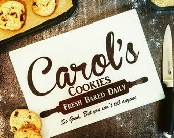 Carol's Cookies, The Walking Dead, Walking Dead Gift, TWD, Walking Dead Art, Surface Saver, Glass Chopping Board
