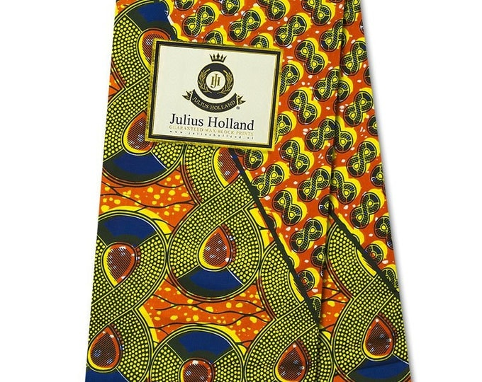 6 Yards African Fabrics Julius Holland Wax Print, Fabrics For Dress Making Kitenge/Pagnes/Ankara /Chitenge