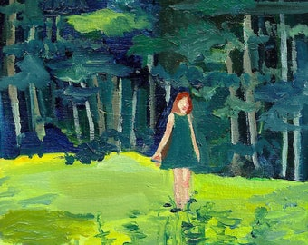Forest Walk - limited edition print of an original oil painting