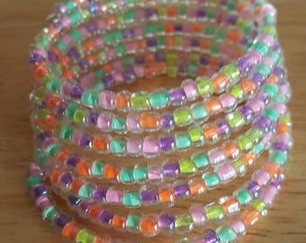 Seed Beed memory wire bracelet