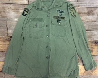 Vintage Men's Military Fatigue Shirt