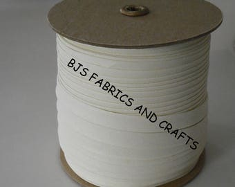 """IVORY Bias Tape 1/2"""" EXTRA Wide Double Fold Bias Tape US Made 12 Yards"""