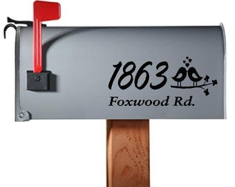 3 Piece Custom Mailbox Decals