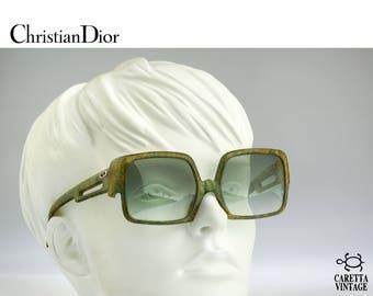 Christian Dior 2029 50, Vintage square oversize sunglasses, 70s rare designer eyewear - unique collectible glasses / NOS