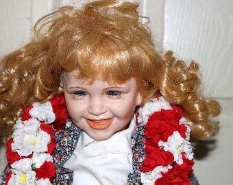Chase by Gretchen M Wolff Doll - Porcelain Doll - Wimbledon Series - No Box or COA - 135/600 - Original Wrist Tag