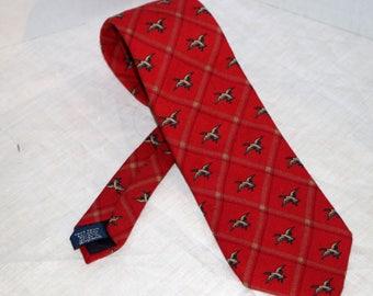 Vintage Kenneth Gordon Men's Tie - Flying Ducks - New Orleans - 60% Wool - 40 Percent Silk  - Hand Sewn - Woven in England