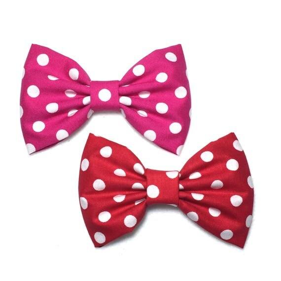 Polka Dot Hair Bow, Polka Dot Bow, Red Polka Dot, Minnie Mouse Bow, Minnie Bow, Toddlers Hair Bows, Hair Bows For Girls, Red Hair Bow, Bows