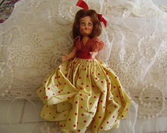 "Vintage Celluloid 6"" Doll"