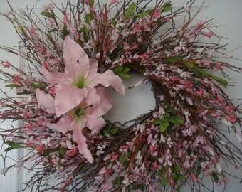 Summer wreath, summer door wreath, front door wreath, outdoor wreath, spring wreath, housewarming gift, floral wreath, door wreath, wreath