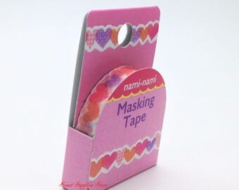 Heart Japanese Die Cut Washi Tape Slim  (TM00749) Price depends on order volume. Buy other items together for BETTER price.