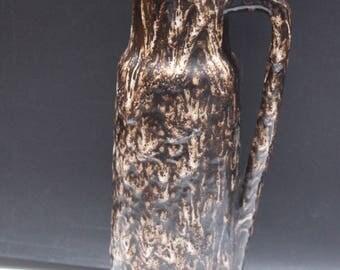 1x Scheurich  extreme Lava  vase  jug West German Pottery Ceramic MID CENTURY Lava Eames 60's