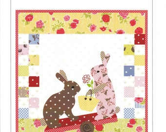 Hip and Hop Quilt Kit - Quilt Kit - Easter Kit - Bunny Kit - Bunny Hill Designs