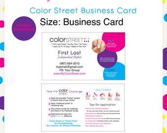 Color Street Business Card #6 --Custom Digital Download