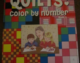Quilts: Color by Number Book 1