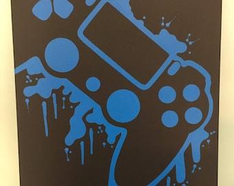 PlayStation 4 Splatter Painting