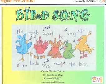 25% OFF SALE SALE Cm Designs Bird Song Cross Stitch Pattern