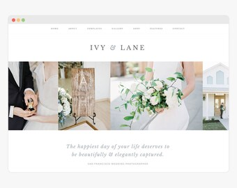 "NEW Wordpress Theme - Wordpress Ecommerce Theme - Photography Theme - Genesis Theme - ""Ivy & Lane"" Instant Digital Download"