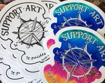 Support Art: indoor/outdoor sticker