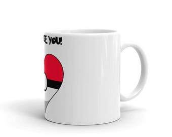 I choose you pokemon heart Mug - Pefect gift idea for that someone special in your life
