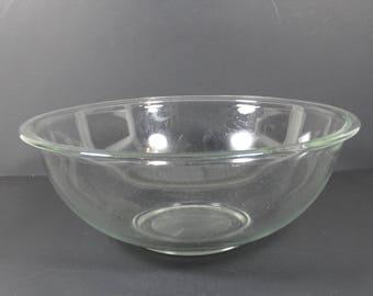 Large Clear Glass Pyrex Mixing Bowl 4 Liter 4 L Vintage Pyrex 326