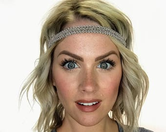 Greige Boho Forehead Headband - Solid Collection - Limited Quantity