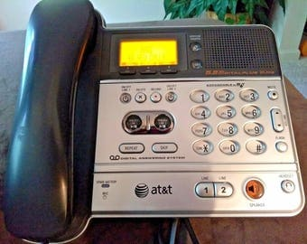 AT&T Office TelePhone TL76108 5.8GHZ 2 line corded main base unit for TLC6008