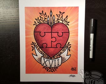 WHOLE XVII 8.5 x 11 Signed Artwork Print by Jin Wicked