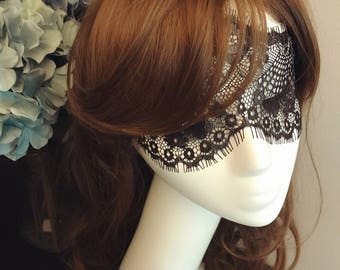 DARKWHISPER Couture Retro Masquerade Ball Exquisite Handmade Sexy Black Lace Girl Halloween Mask