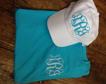 Back to School Special Monogrammed Shirt and Cap Set, T-shirt and Cap Set