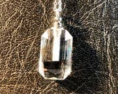 Rounded Rectangle Faceted Crystal Glass Vial Real Lunar Moon Dust Meteorite Unearthly 25mg Specimen Alien Necklace 100% Pure Cutting Dust