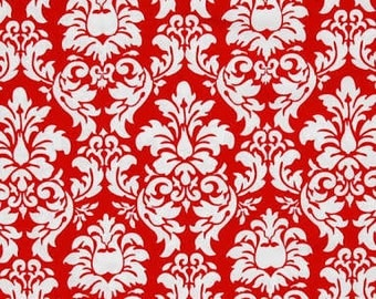 40% OFF SALE!  Dandy Damask Rouge Red - Michael Miller