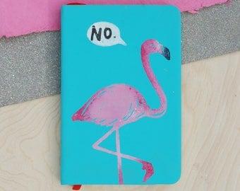 A6 NO! Flamingo Pocket Notebook