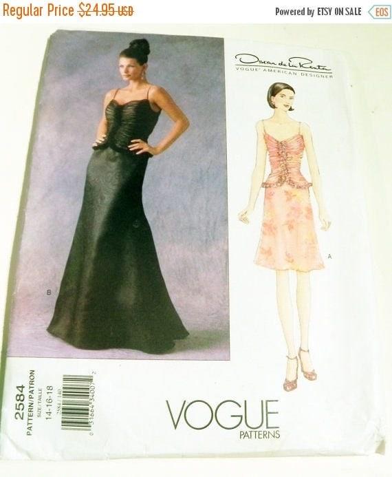 Sale Oscar De La Renta Gathered Bodice Evening Gown Prom Dress