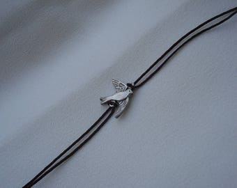 * Black Dove Silver Friendship bracelet