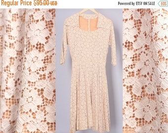 """40% SALE 1950's Lace Dress 