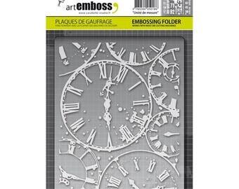 Carabelle Studio Art Emboss Embossing Folder Horloges Clock Faces