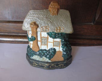 Vintage Cast Iron Country House Door Stop