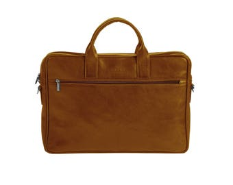 Honey Coach briefcase, Leather Briefcase made to order, Man's accessories