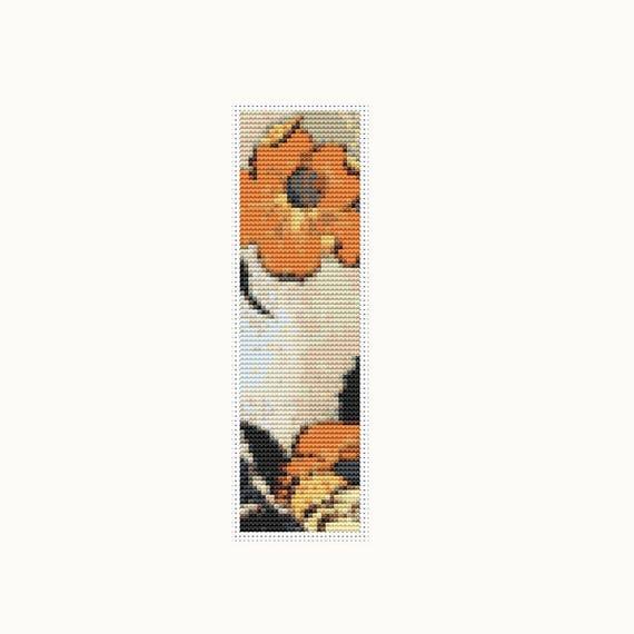 Poppies Bookmark Cross Stitch Kit Embroidery Kit Art