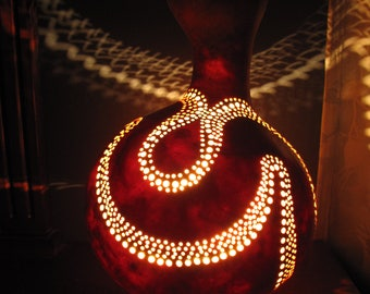 River's Bend Gourd Lamp