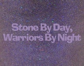 "Stone By Day, Warriors By Night shimmer holographic nail polish 15 mL (.5 oz) from the ""Disney Afternoon"" Collection"