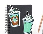 Planner Die Cuts Printable, Planner Coffee Die Cuts, Mint Coffee, Food Die Cuts, Scrapbook Die Cuts, Planner Accessories - Office