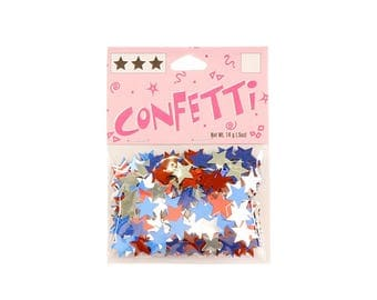 Red White & Blue Stars Confetti 11mm 14 grams - Party Supplies