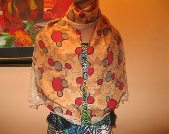 """scarf/scarf for women - lace and silk - model """"marcella"""""""