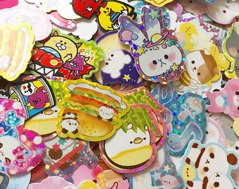 KAWAII: 100 loose mixed sticker flakes