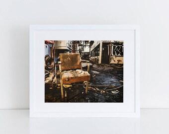 Factory Chair - Urban Exploration - Fine Art Photography Print