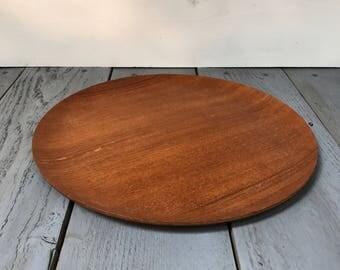 Vintage Shigemichi Aomine for N.C.C. Teak bentwood tray