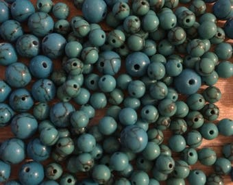 Sale bead supplies, synthetic turquoise, jewelry supplies